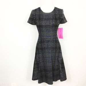 NWT Betsey Johnson Ponte Fit Flare Dress